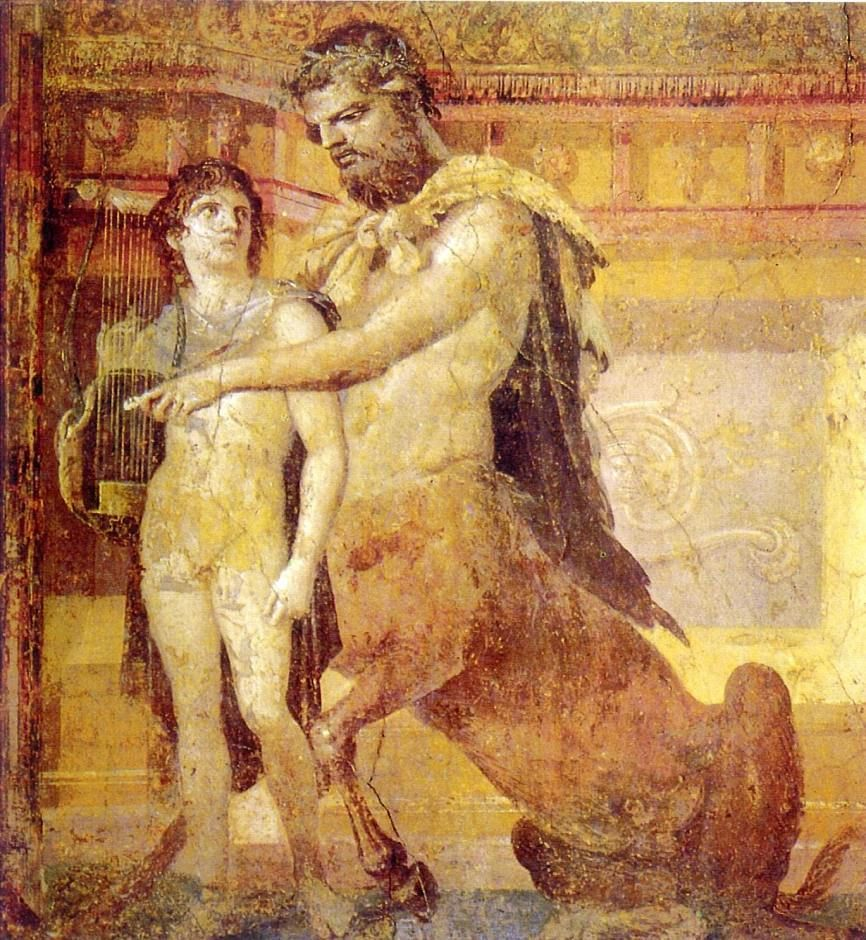 El centauro Quirón instruyendo a Aquiles e935994e64c51
