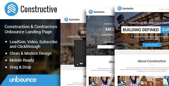 Constructive Contractors Unbounce Landing Page Unbounce