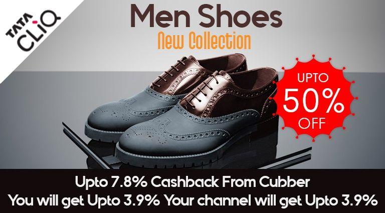 Tatacliq New Collection of Men Shoes + UPTO 7.8% CASHBACK