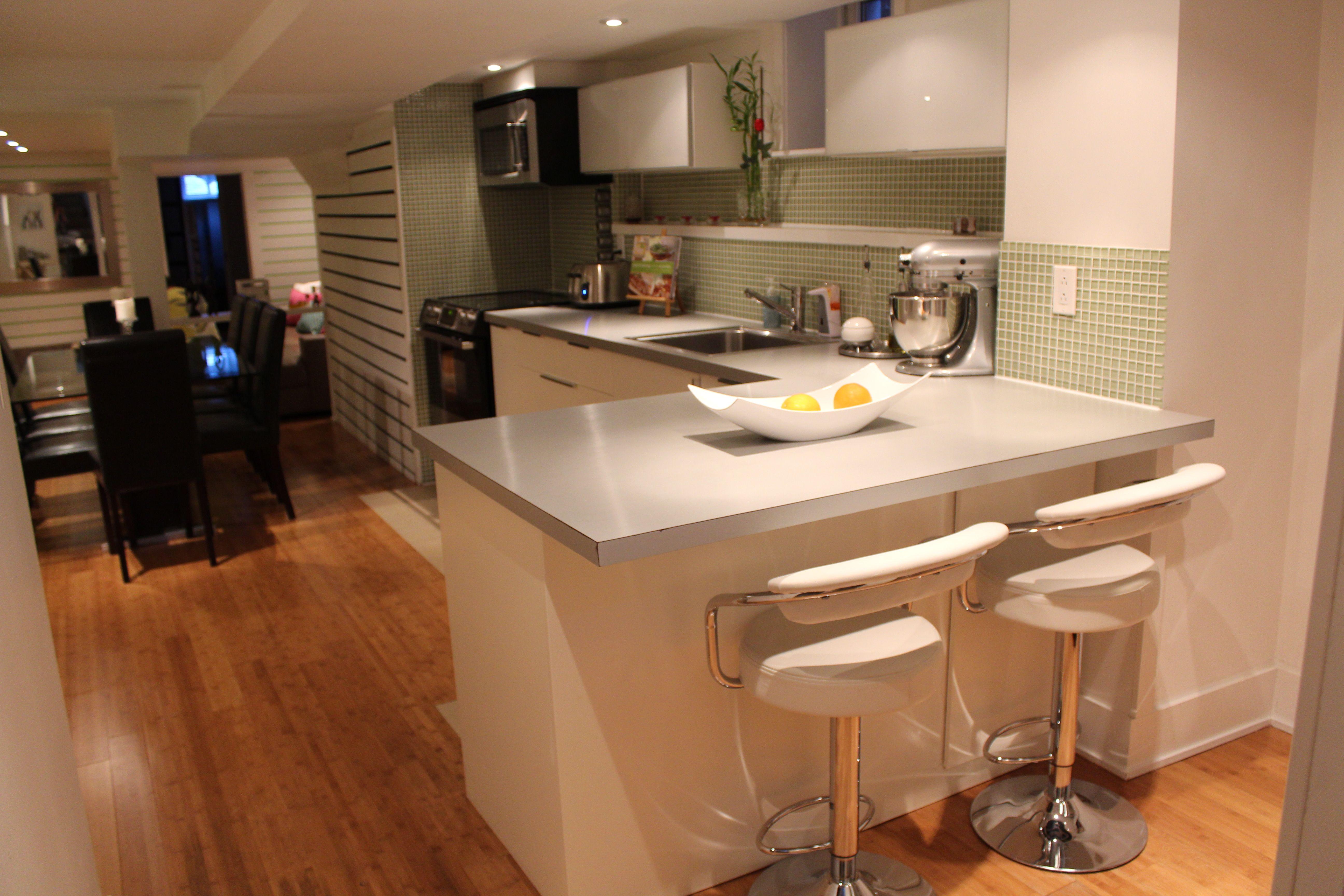 Basement Apartment. I <3 the tile! | Interior design | Pinterest