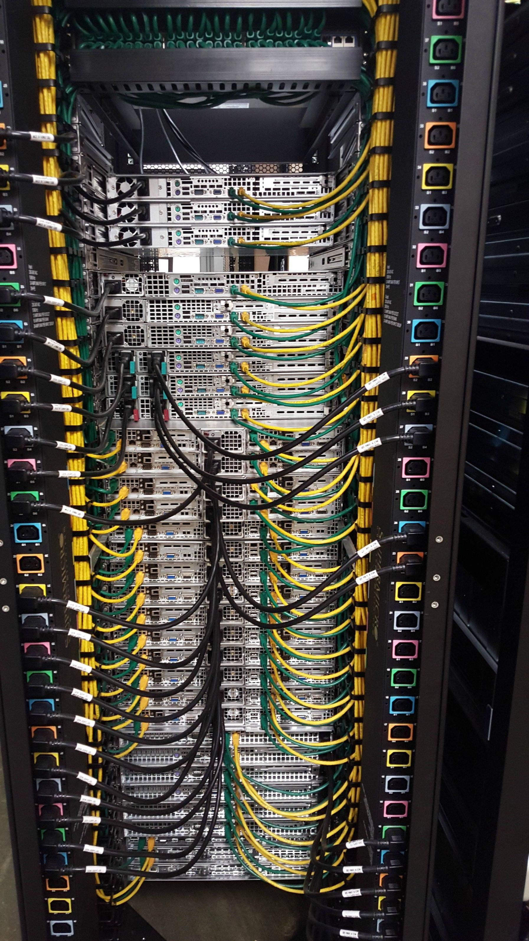 Structured Wiring Diagram Database Er Tool Our Rack Team 39s Work Cable Management Server