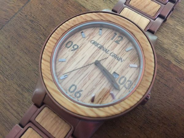 espresso wood steel barrel pin whiskey watches
