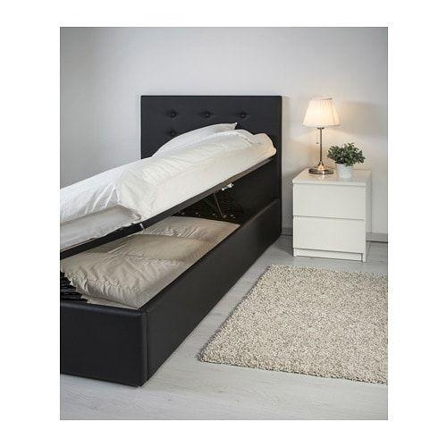 GVARV Struttura letto con contenitore, Idhult nero | For the Home ...