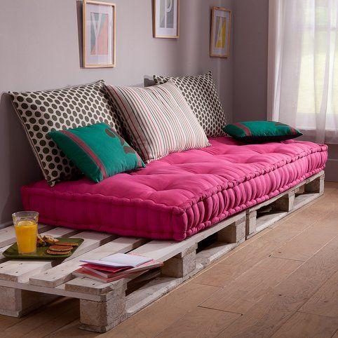 matelas capitonn pour banquette army 3suisses joli studio pinterest palets hogar y. Black Bedroom Furniture Sets. Home Design Ideas