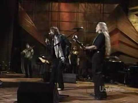 You've got to wait a few seconds to get over the hairdos before the voices emerge;>) Willie Nelson and Steven Tyler - WOW!  Two of the Greatest EVER! Once Is Enough
