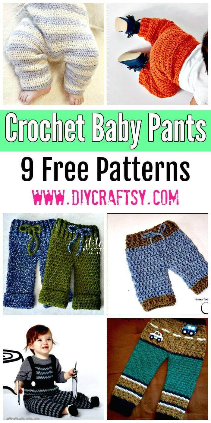 Crochet Baby Pants - 9 Free Patterns | Pinterest | Bebe, Todo para ...