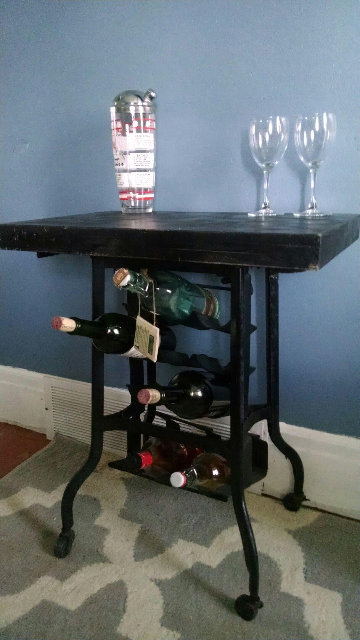 Dictaphone stand wine rack