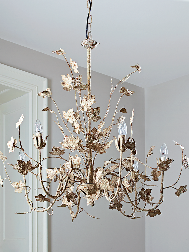 Antique White Leaves Chandelier Antique White Leaves