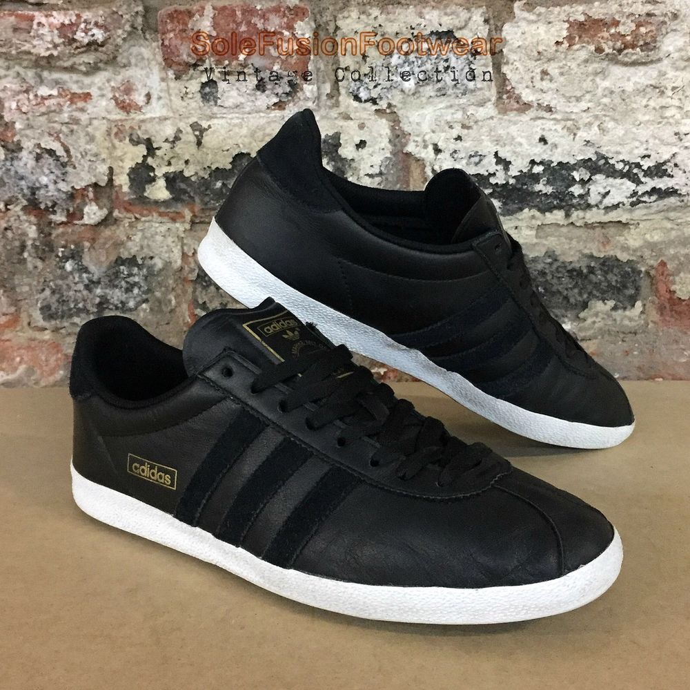 adidas Originals Mens Gazelle OG Trainers Black size 8.5 Sneakers US 9 EU  42 2/3