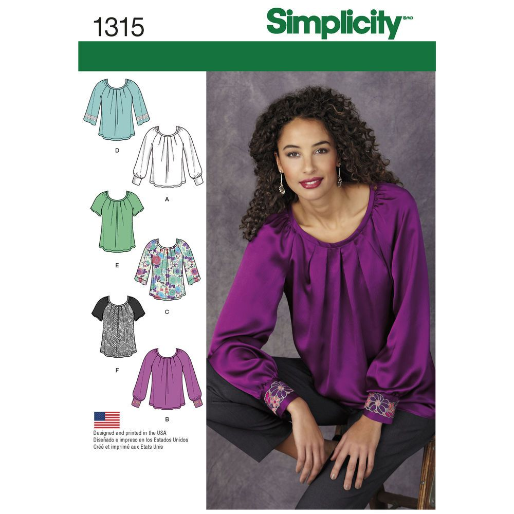 a720a5eb3339 I HAVE THIS ONE - Simplicity 1315 - misses  pullover blouse with ...