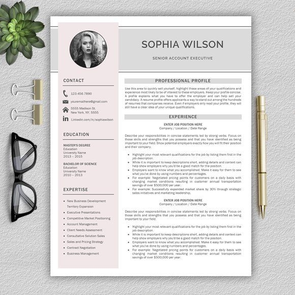 Resume Template | CV + Cover Letter  Download Cover Letter Template