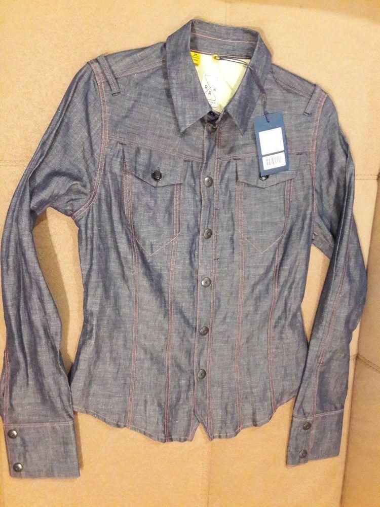 g star raw essentials re worker shirt womens size s #fashion