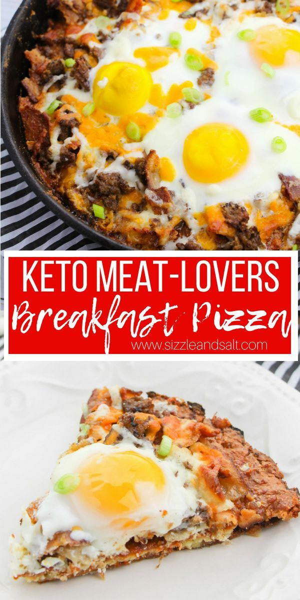 Fathead Pizza Our Meat Lovers Skillet Breakfast Pizza  A cheesy meatlovers keto breakfast pizza that also doubles for lunch This filling lowcarb brea