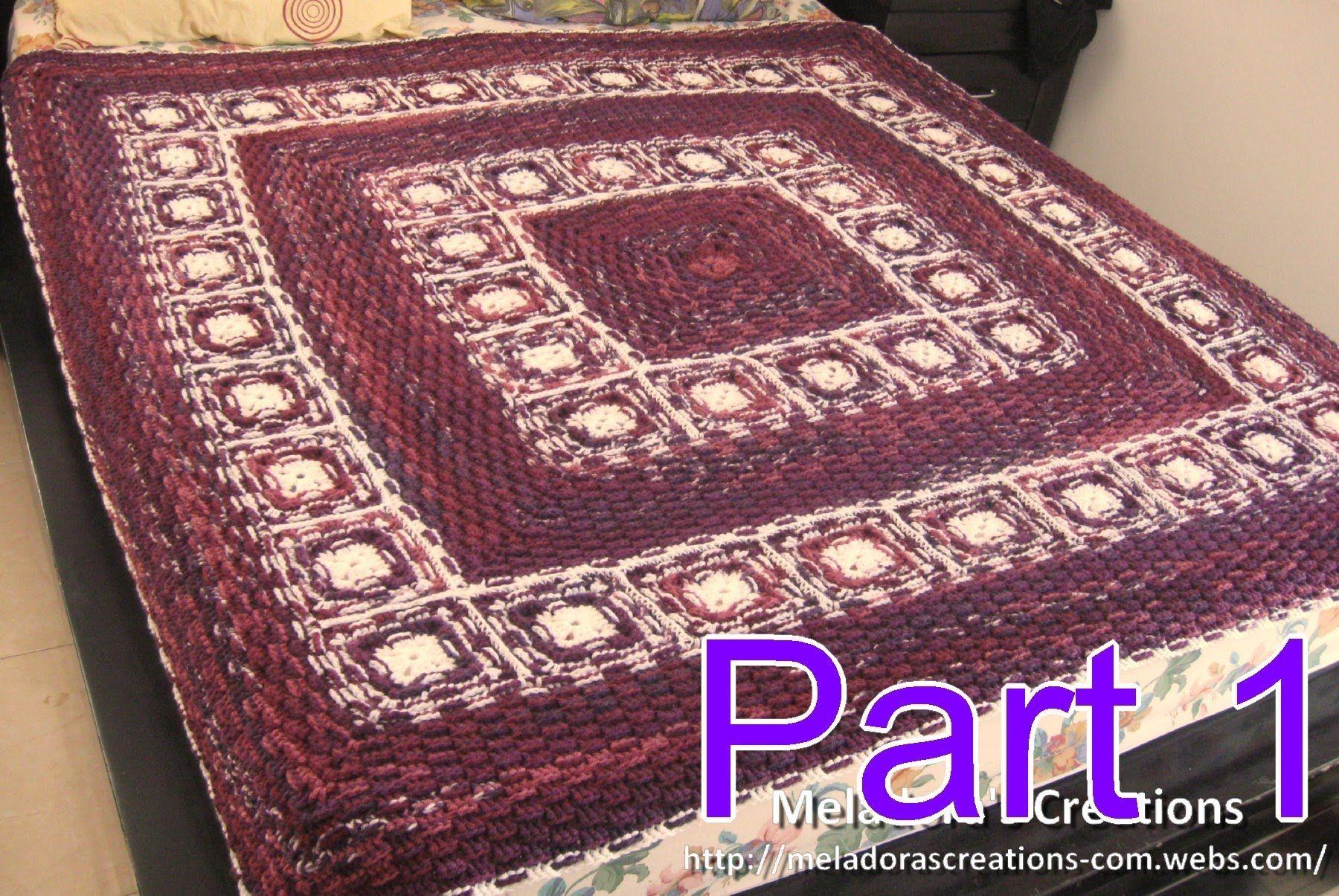 Basket Weave Granny Afghan Pt 1 - Making the Grannies - Crochet ...