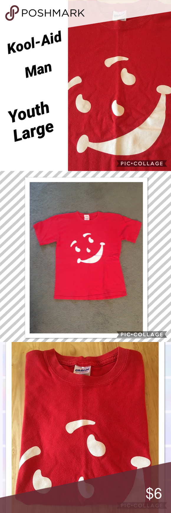 KoolAid Man TShirt Youth Large This is a used tee, maybe