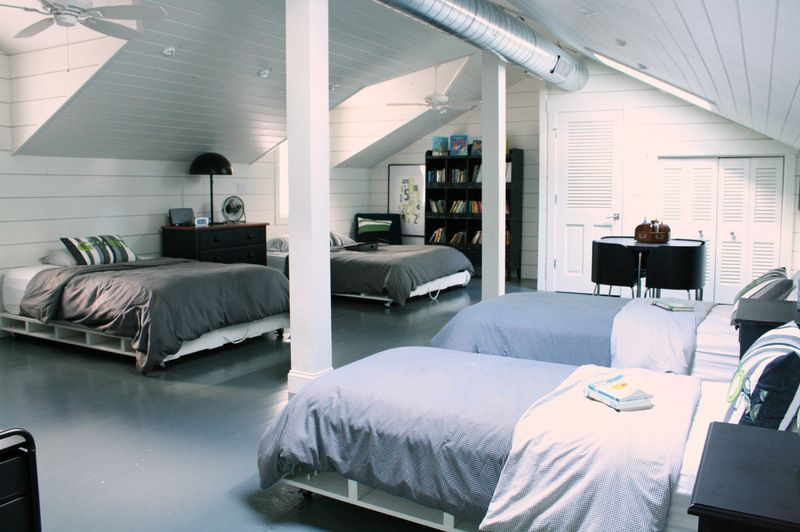 16 Year Old Room Ideas the attic, known as the family's dorm, is where four of the six