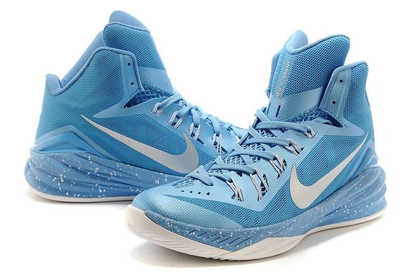 new style 1730f b589d Men And Women Nike Hyperdunk2014 Hd Running Shoes Basketball Shoes Casual  Shoes In Blue With White