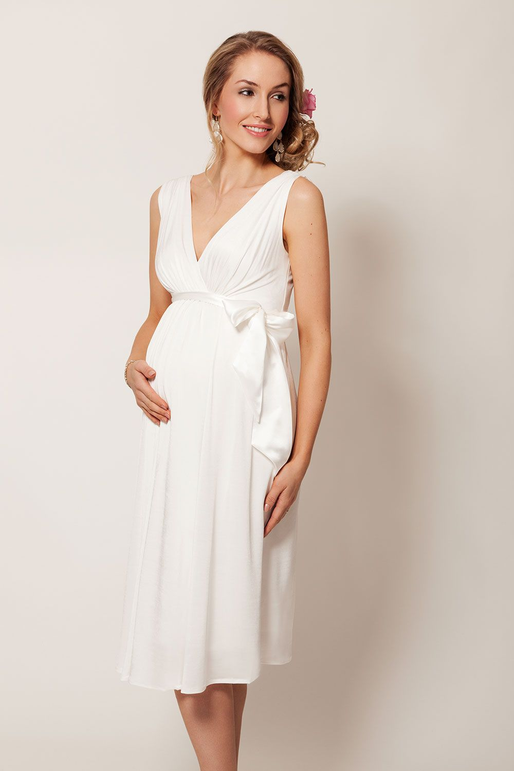 000a3dade If you are considering wearing a shorter length wedding dress then this  gorgeous Grecian style wedding dress could be perfect for you.