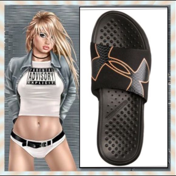 74c84a3c9b Under Armour Shoes | Under Armour Strike Rock Slides | Color: Black ...