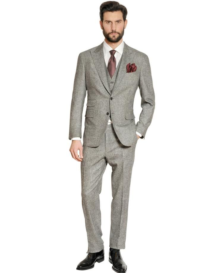 Wedding Suits For The Winter/Spring Groom. Relaxed tweed look to ...