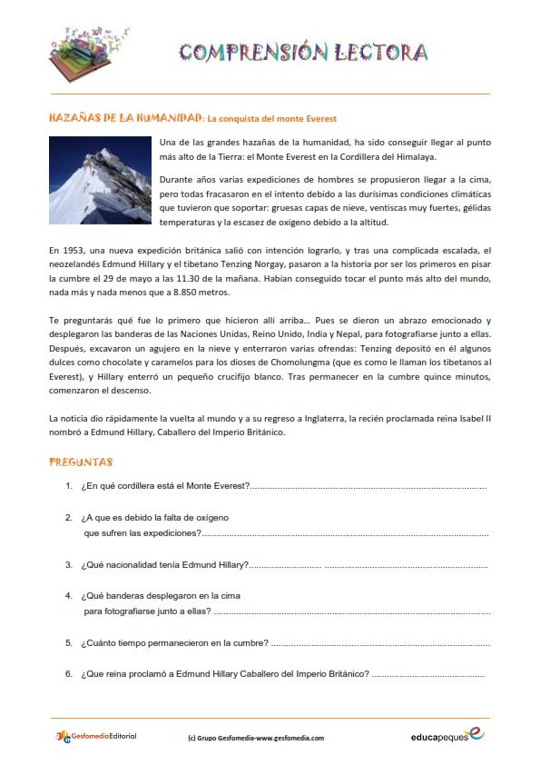 Fichas de comprensión lectora para primaria | El Rincón de ... - photo#15