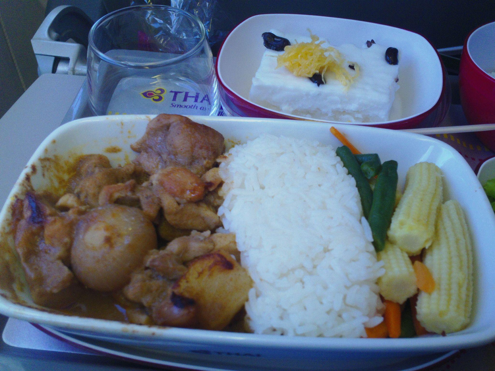 Food On Thai Airways Dhaka Bangkok Flight 322