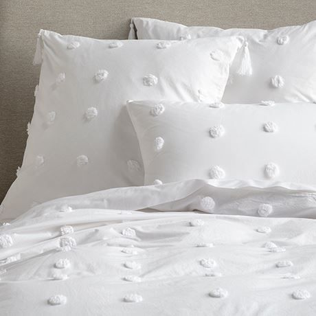 DOTTED Pillowcase Euro White in 2020