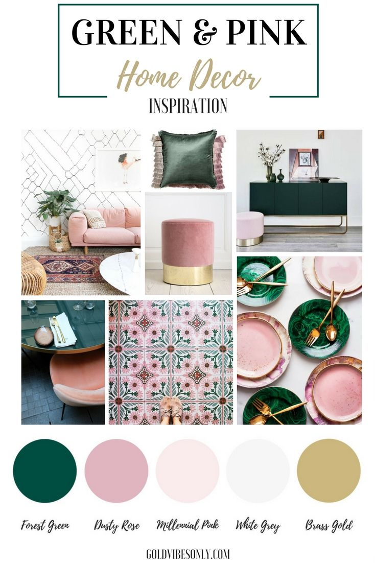 Green And Pink Interiors And Home Decor Inspiration How To Create