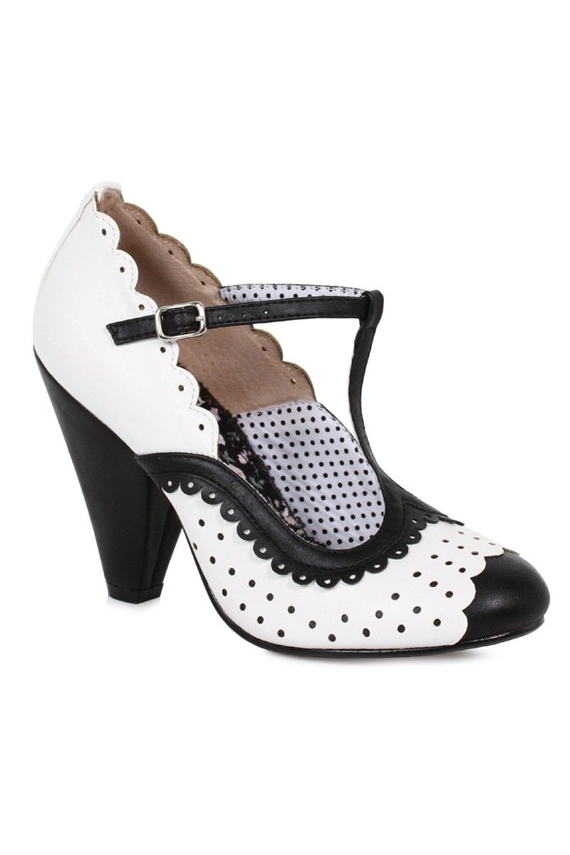 250c30b013 Sexy Black Polka Dot Chunky Heels Faux Leather in 2019 | shoes ...