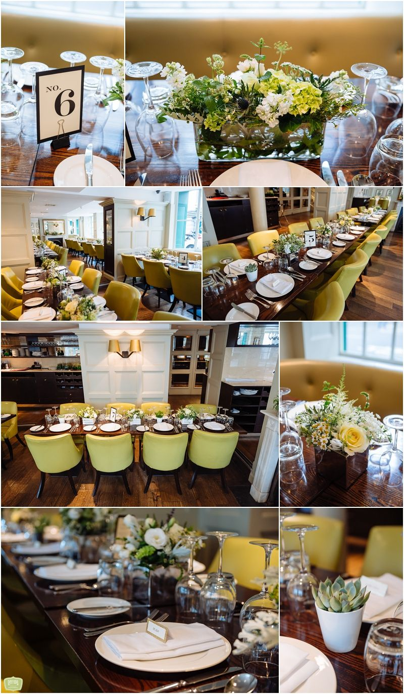 Wedding Reception Decor  Daffodil Waves Photography  Chiswell Fair Chiswell Street Dining Room Design Ideas