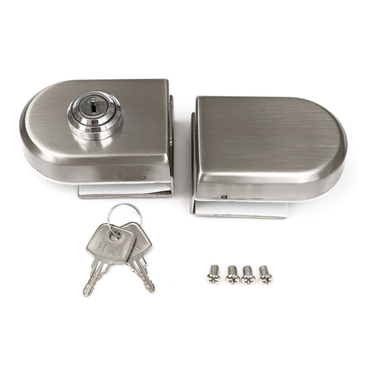 Stainless Steel 12mm Glass Door Lock Double Swing Hinged Frameless Door Lock Glass Door Frameless Door Glass Door Lock