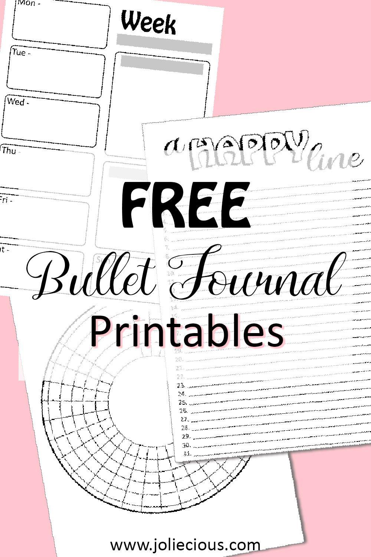 Free Bullet Journal Printables Instant Download Joliecious Bullet Journal Free Printables Bullet Journal Printables Gratitude Journal Printable
