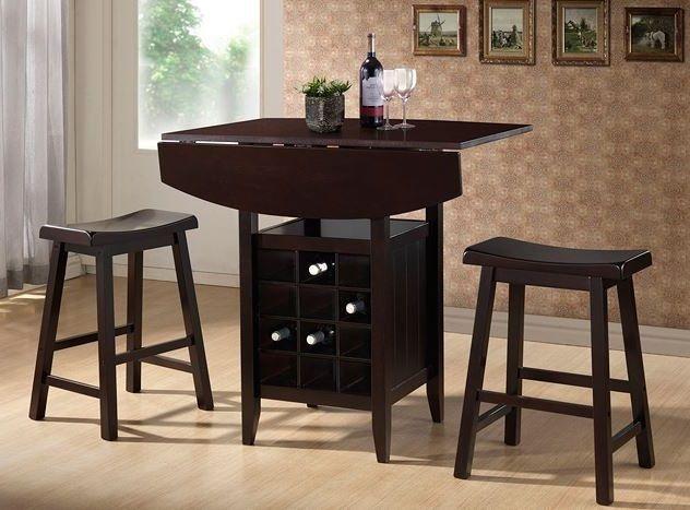 details about table 3 piece set pub bar wine rack dining stool, Esstisch ideennn