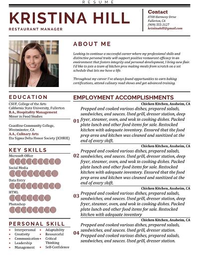 Watchful Functional resume, Functional resume template