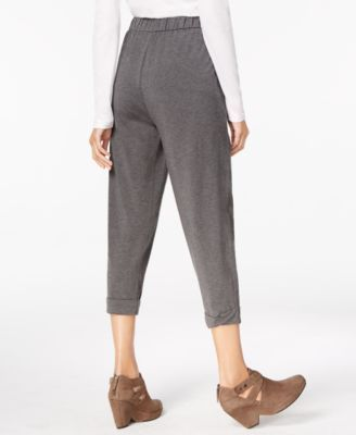 Eileen Fisher Tapered Cozy Jersey Pull-On Pants, Regular & Petite - Gray XXS