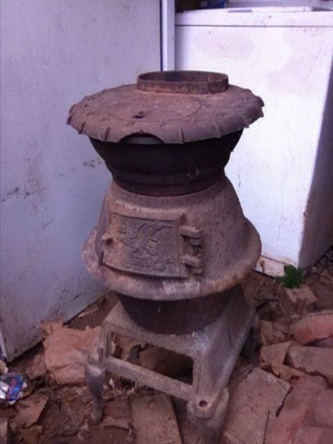Details About Antique Small Cast Iron Pot Belly Coal