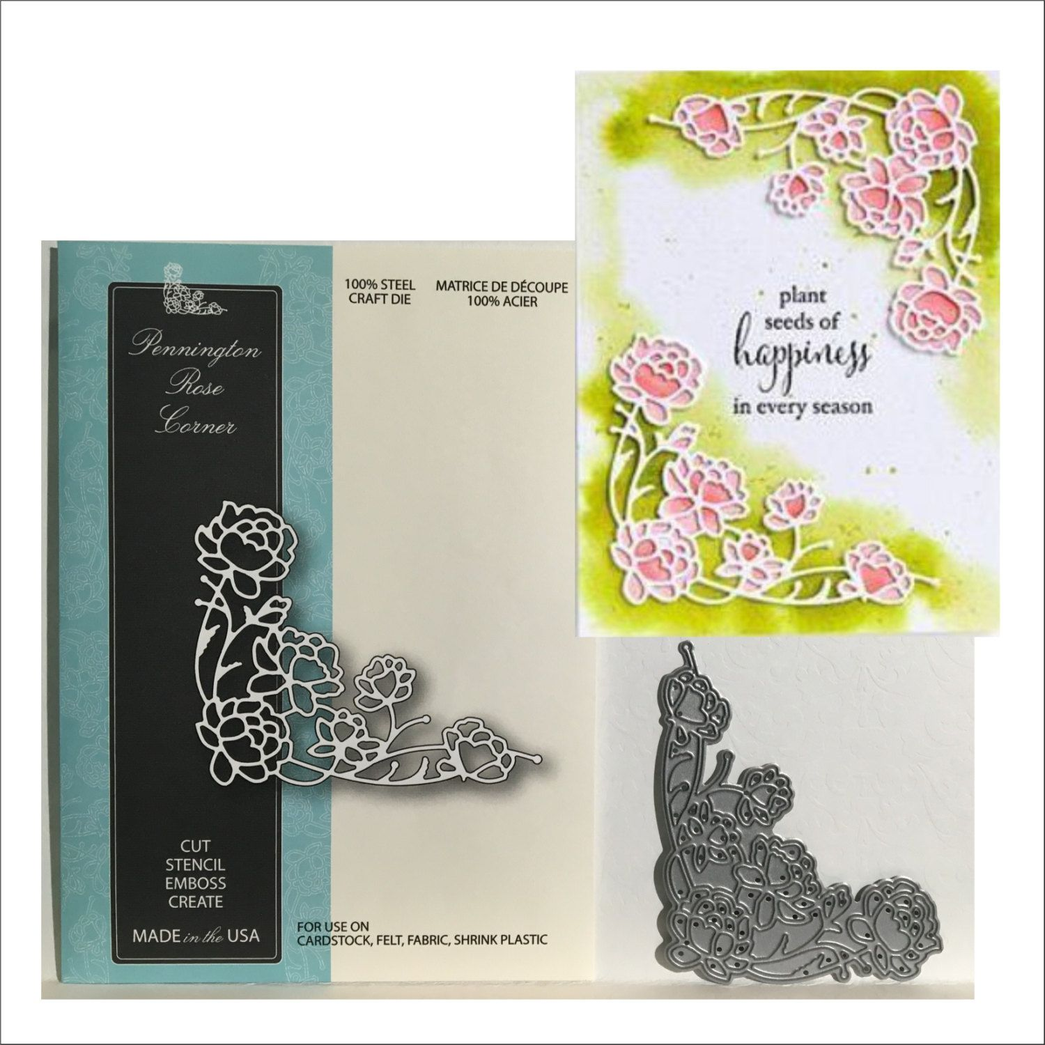 Corner Flower Plastic Template Craft Card Making Paper Cards Embossing Template