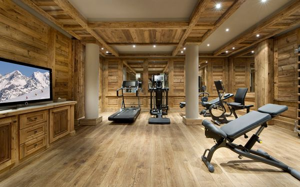 Luxurious Chalet Edelweiss In Courchevel 1850 Home Gym Flooring Home Gym Design Finishing Basement