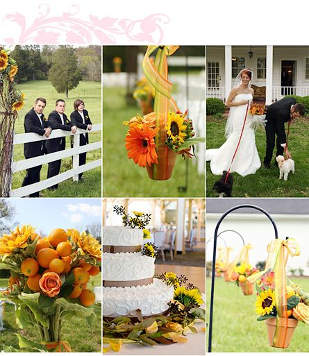 Www Liweddings Sunflowers Adorn Wedding Cake Sunflowers Sunflower Wedding  Desert. Sunflower Wedding Decorations ...
