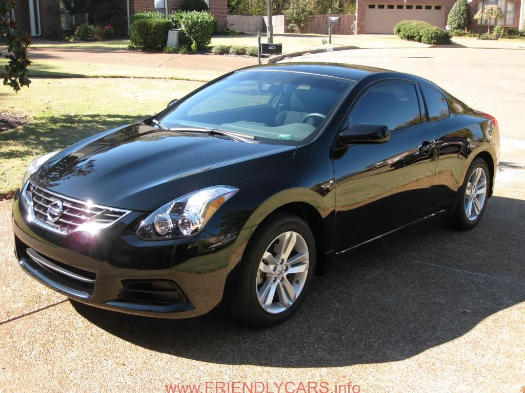 nice 2012 nissan altima coupe black car images hd white. Black Bedroom Furniture Sets. Home Design Ideas