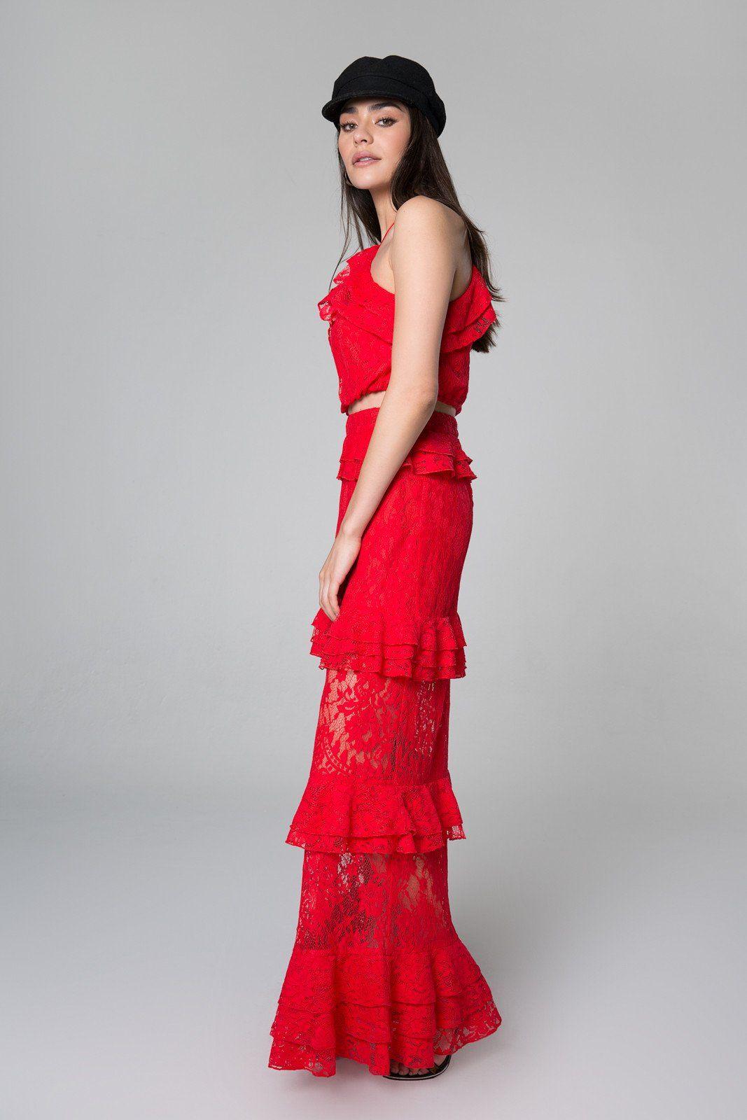 Otis ruffle maxi skirt prom in pinterest ruffles skirts