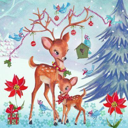 Tarjeta de Navidad Ilustración Hertjes 1