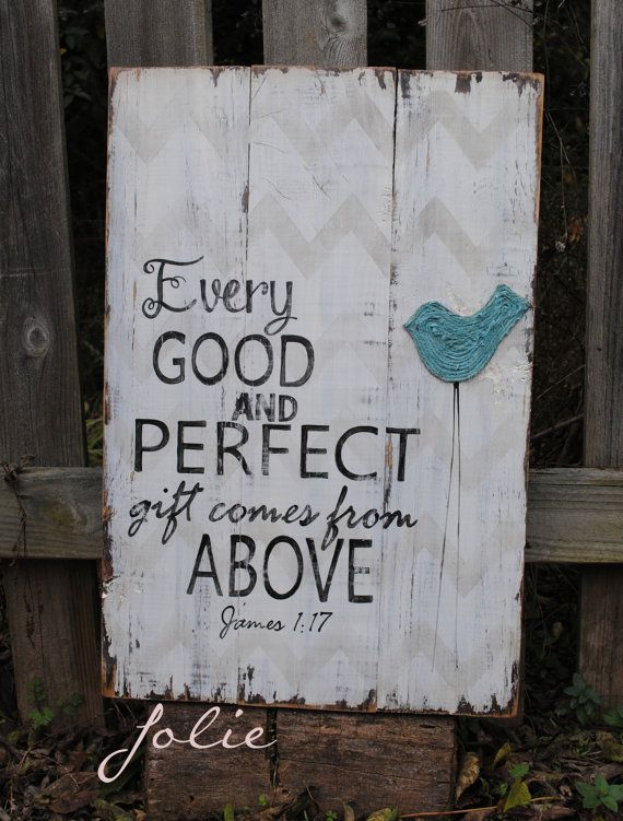 Every good and perfect gift comes from above by JolieCustomWoodArt
