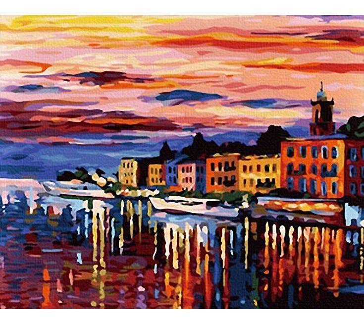 """Раскраска по номерам Белоснежка """"Озеро Комо - Белладжио ..."""