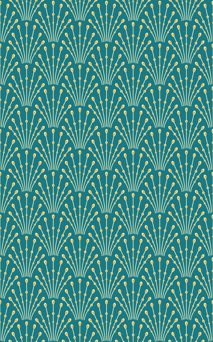 Wallpaper Art Deco Beads Peacock In 2019 Art Deco