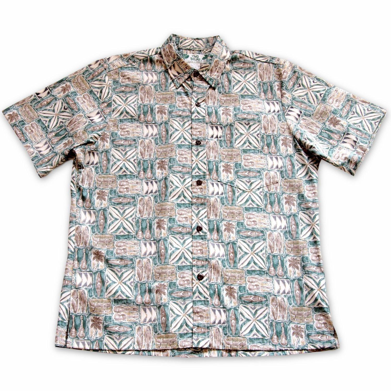 Olukai Green Hawaiian Reverse Shirt   #hawaiianshirt #floralshirt #alohashirt #hawaiianshirts #madeinhawaii