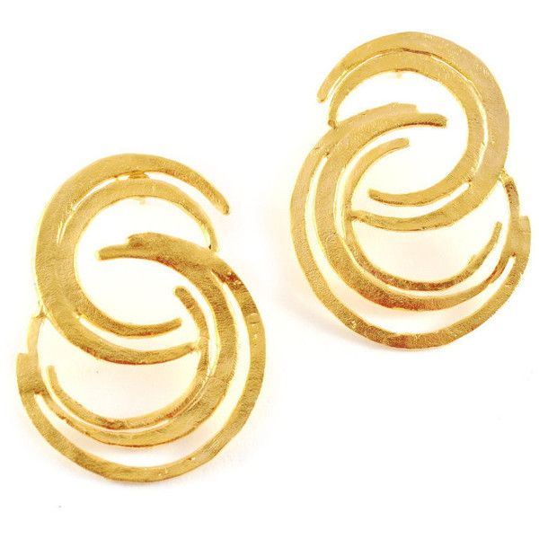 Gold stud earrings gold earrings statement gold earring urban