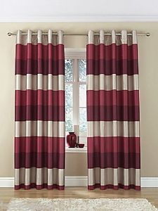 Faux Silk Curtains Red Stripe   Google Search
