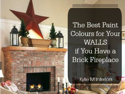 The Best Paint Colours To Update A Brick Fireplace Brick Fireplace Red Brick Fireplaces Best Paint Colors