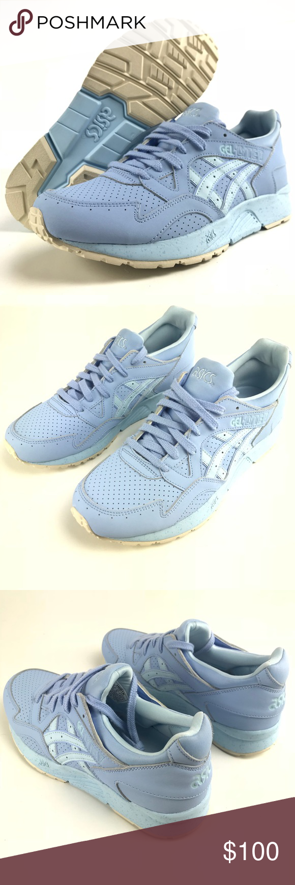 ASICS GEL LYTE V 5 Running Shoes Light Blue Tan Speckle SZ